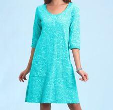 FRESH PRODUCE Extra Large Luna WAVES DALIA Cotton 3/4 Dress NWT New XL