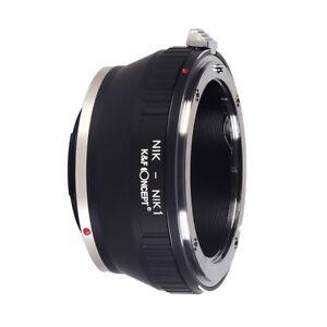 K&F Concept adapter for Nikon F Mount Lens to Nikon 1 Camera  J1 J2 J3 J4 J5 V1