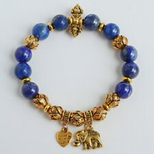 10mm Natural Afghan Lapis lapiz Beads Bracelet BPXY31