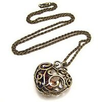 Innovative Gift Hollow Heart Bead Retro Long Pendant sweater Chain Necklace