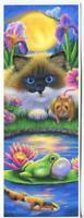 ACEO RAG DOLL SIAMESE CAT LOTUS GARDEN POND IRIS FLOWER FROG MICE KOI FISH PRINT