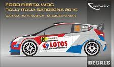 DECALS 1/43 FORD FIESTA WRC #10 - KUBICA - RALLYE DE SARDAIGNE 2014 -MFZ D43329