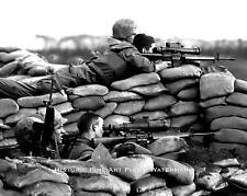 VIETNAM WAR PHOTO US MARINE SNIPERS BATTLE OF KHE SANH 1968 8x10 #21830