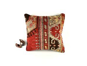 Kilim Pillow Cover 18x18 Rug Pillow Decorative Cushion Vintage Pillow  A2813