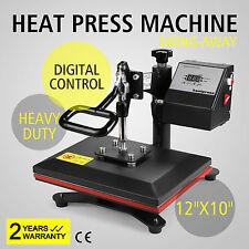 DIGITAL HEAT PRESS MACHINE T-SHIRT TRANSFER SUBLIMATION VINYL PRINTING 12 X 10