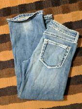 Rock 47 by Wrangler, ultra low rise, blue denim jeans,  size 3/4 - Nice!!