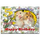 C178; large personnalisé de carte d/'anniversaire; faites sur mesure pour tout nom; drôle écureuil