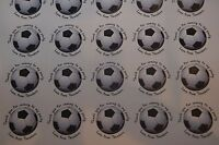 35 Personalised Football 37mm Round Stickers labels Party Thank You sweet cone