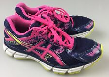 Asics Womens 9 Running Athletic Shoes Gel Excite 3 Blue Pink T5B9N