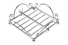 Premier Housewares Chrome Wire Napkin Holder - Kitchen Serviette Dining Table