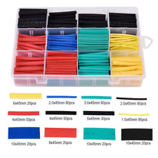 530pcs 5 Color 8 Size 2:1 Heat Shrink Tube Tubing Sleeving Wrap Wire Assorted #1