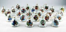 Lot(26) Grolier Disney Characters Christmas Bell Ornaments Porcelain 1994 Used