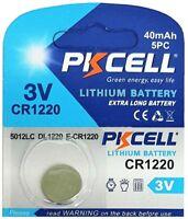 1 x CR1220 3V Lithium Knopfzelle 40 mAh ( 1 Blistercard a 1 Batterie )PKCELL