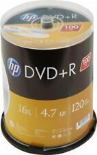 100 HP Rohlinge DVD+R 120Min 4,7GB 16x Spindel