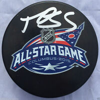 MARK GIORDANO SIGNED 2015 ALL STAR GAME PUCK CALGARY FLAMES TEAM CANADA K2