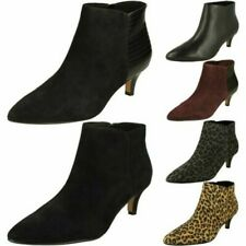 Ladies Clarks Linvale Sea Kitten Heel Ankle Boots
