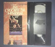 WCW JIM CROCKETT SR. MEMORIAL CUP (VHS, 1988) RARE WWF WWE 88 BUNKHOUSE MATCH