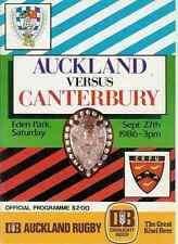 Auckland v Canterbury 27 Sep 1986 Ranfurly Shield, NZ Rugby Programme
