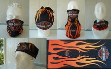 Head/Face/Mask/Neck Multi-wear tube Bandana/Durag.SPF5,Biker/wrap. Flame. scarf