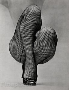 1951 Vintage FONSSAGRIVES Female Nude Legs Fishnet Stockings Shoes Fashion Photo