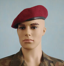 RED BERET Bundeswehr GERMAN ARMY cap IRAQ WAR wool used 58, 59 - 2010 1999