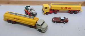 2 x 1:87 WIKING Camion Cisterna Shell 1 WIKING Ribaltabile 1 Busch Ferrari