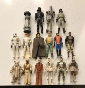 Star Wars Kenner action figures lot of 16.  1977-83