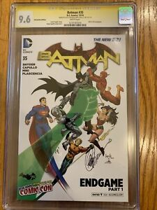 CGC 9.6 NM BATMAN 35 SCOTT SNYDER GREG CAPULLO SIGNED NEW YORK COMIC CON VARIANT
