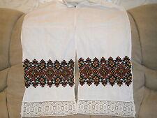 Ukrainian Rushnyk Finely Hand Embroidered Vintage Decorative Ritual Cloth Towel