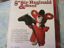 "SIR REGINALD & STEED *RARE OOP 8"" whimsical fox & horse cloth doll pattern 2013"
