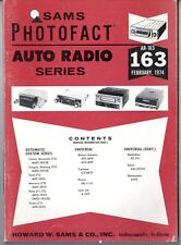 Sams Photofact-Auto Radio Manual/#AR-163/First Edition-First Print/1974