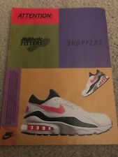 Vintage NIKE AIR MAX Running Shoes Poster Print Ad 1990s RARE