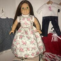 American Girl doll Felicity in a Handmade Dress, Red Hair Green Eyes + Extras