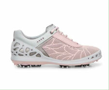 Ecco Cage Ladies Golf Shoes Pink Spikes Hydromax Size Eur 38 US 7,5