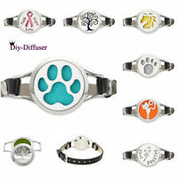 Family Aromatherapy Bracelet Essential Oils Wrap leather Diffuser Locket Bangle