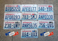 10 WASHINGTON GRAPHIC MOUNTAIN RAINIER LICENSE PLATES TAGS BULK PRICE SET LOT