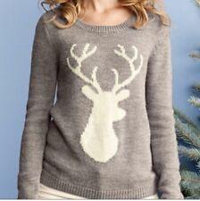 Garnet Hill Rendeer Antler Deer Wool Sweater- Small
