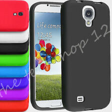 Plain Soft Silicone Gel Rubber Skin Back Case Cover For SAMSUNG GALAXY S4 & mini