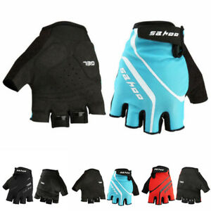 Bike Bicycle Breathable Sports Cycling Half Finger Gloves Fingerless Fitness