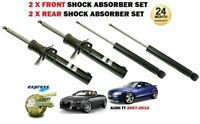 FOR AUDI TT COUPE + CABRIO 2006-2014 NEW 2X FRONT + 2X REAR SHOCK ABSORBER SET