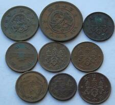 Collection Japanese Coins, Meiji, Showa Nice Copper & Bronze Issues, Japanese