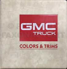 1987 GMC Color and Upholstery Dealer Album Trim Fabric Pickup SUV Van Caballero