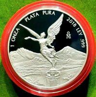 2018 1 oz Silver Libertad PROOF ! 1 Onzas Plata Pura! Mexico Mint 10,000 Only !!