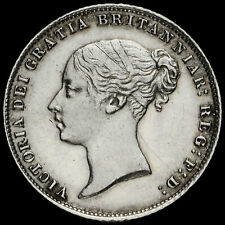More details for 1866 queen victoria young head silver sixpence, ef