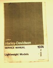 1965-1974 Aermacchi  AMF Harley-Davidson Light wt. Mdls X-90 cc  Illustrated FSH