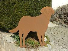 Edelrost Hund, Gartendekoration, Eisen, Metall, Rost, Gartendeko, Labrador xxl