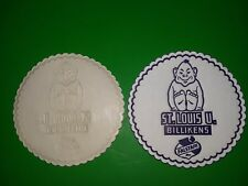 Vintage HTF St Louis University Billikens Drink Coasters With Falstaff Beer Logo