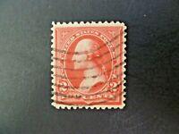 USA 1895 1st Bureau $.02 Washington #252 Type III Used VF - See Description