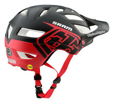 Troy Lee Designs A1 MIPS Classic SRAM Bicycle Helmet Matte Black/Red