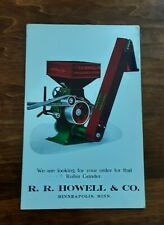 1914 R. R. Howell & Company Farm Implements Machinery Advertising Postcard
